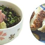 仏跳麺 - ミニ丼ギョーザセット