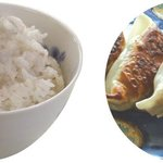 仏跳麺 - 麦飯ギョーザセット