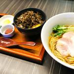 中華蕎麦 三藤 - ランチ限定・卵かけ御飯セット 麺+¥500