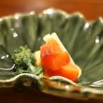 翏 - 桜鱒と大根の酢味噌かけ