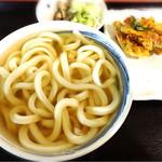 本格さぬきうどん 穂乃香 - ひやかけと野菜かき揚げ