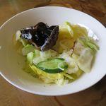 カラバト・カリー - サラダのアップ