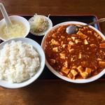 同福堂 - 麻婆豆腐定食、500円です。