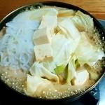 ミートプラザ尾形 - ミートプラザ尾形@五戸町(青森県) 桜鍋を調理中