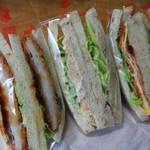 あかりい菜 - 料理写真:購入品の味噌カツ・ツナ・BLTオムレツ