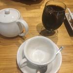 村のピザ屋 カンパーニャ - アイスコーヒーと紅茶
