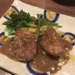 グラスワイン 桜坂 ル・ボワ - リードヴォーと春野菜のバルサミコクリームソース