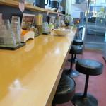 魂麺  - カウンター席の様子