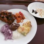 横浜桜木町ワシントンホテル - アイス、パンプディング、甘いパンなど