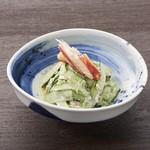 とんかつ まい泉 - カニと胡瓜のサラダ