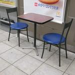 マクドナルド - テーブル席です。