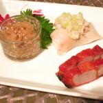 64800497 - クラゲ 叉焼 蒸し鶏