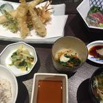 かごの屋 - 海老と真穴子の天ぷら膳