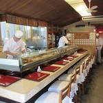 喜寿司 - 店内、カウンター