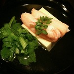 64808421 - 卵豆腐とズワイ蟹と菜の花