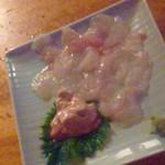三吉橋フライ屋 - 皮ハギの刺身(400円)