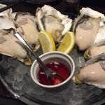 クイーンエンジェル - 牡蠣盛り3種。ぷりっぷり濃厚!!