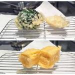 芦屋天がゆ - ブロッコリー サーモン 卵焼き
