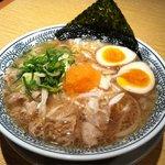 丸源ラーメン - 肉そば(半熟煮玉子入り)750円