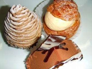 プランタン - モンブラン、ムースショコラ、シュークリーム