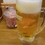 天丼てんや - 生ビールセット 580円