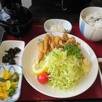 網元おおば - ワカサギフライ定食