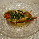 GINZA芳園 - オマール海老の葱生姜炒め