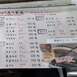 江戸牛 - 基本的に江戸牛ではお肉は1枚単位で購入できるようなので、様々な部位のお肉の価格はもちろん1枚あたりの価格とのこと。