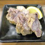 江戸牛 - 続いて注文した味噌漬け牛タンサガリ620円はボリューム満点!