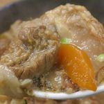江戸牛 - 甘く旨みたっぷりでプルプル食感の牛すじと、ホクホクとした根菜類とのコラボはたまらんちなウマさ!