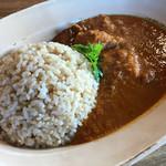 サンキング カフェ - 料理写真:骨付きチキンカレー