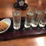 手打ちそば奥村本店 - 純米吟醸呑みくらべセット