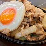 肉の万世 - 生姜焼きとのセットは新座で!(2017.04)