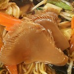 紅太陽 - アワビ茸の水煮の固いし変な味。安いやつか?