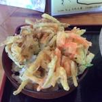 ひょうたん亭 - かき揚げ丼セット +300円