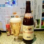 やき鳥 たつみ - [2017/03]キリン瓶ビール(525円)・北海道産を前面に打ち出しています。