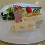 yamabiko - 2017.04 ポテトサンドにサラダも付きました♪