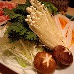 一禅 - つゆしゃぶ(野菜盛り合わせ)