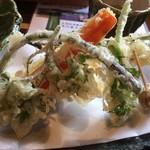 とき庵 - 地野菜の天ぷらです。