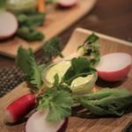 サラマンジェ ド ヨシノ - 料理写真: アミューズは取れたての三浦野菜