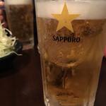 大阪焼トンセンター - キンキンの生ビール