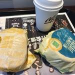 マクドナルド - チキンクリスプマフィン、ソーセージマフィン、コーヒー