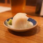 蕎麦・酒・料理 壱 - お通し:いたわさ