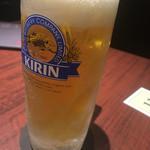 焼肉とビール 市場小路 - 一番搾り 中ジョッキ(¥540)