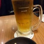 魚と串 いっしょう - ビールとお通し