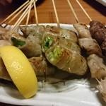 魚と串 いっしょう - 串焼き盛り