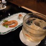 ちんぼーら - 料理写真:梅酒&お通し