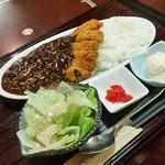 げんき食堂 WAKU家 - 「カツ黒カレー定食 (通常1200円)」