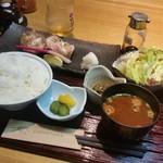 げんき食堂 WAKU家 - 「本日の焼き魚定食 (通常1200円)」