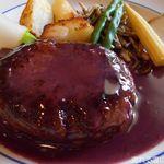 ふれんち食堂UMEYA - 国産牛100%ハンバーグステーキ